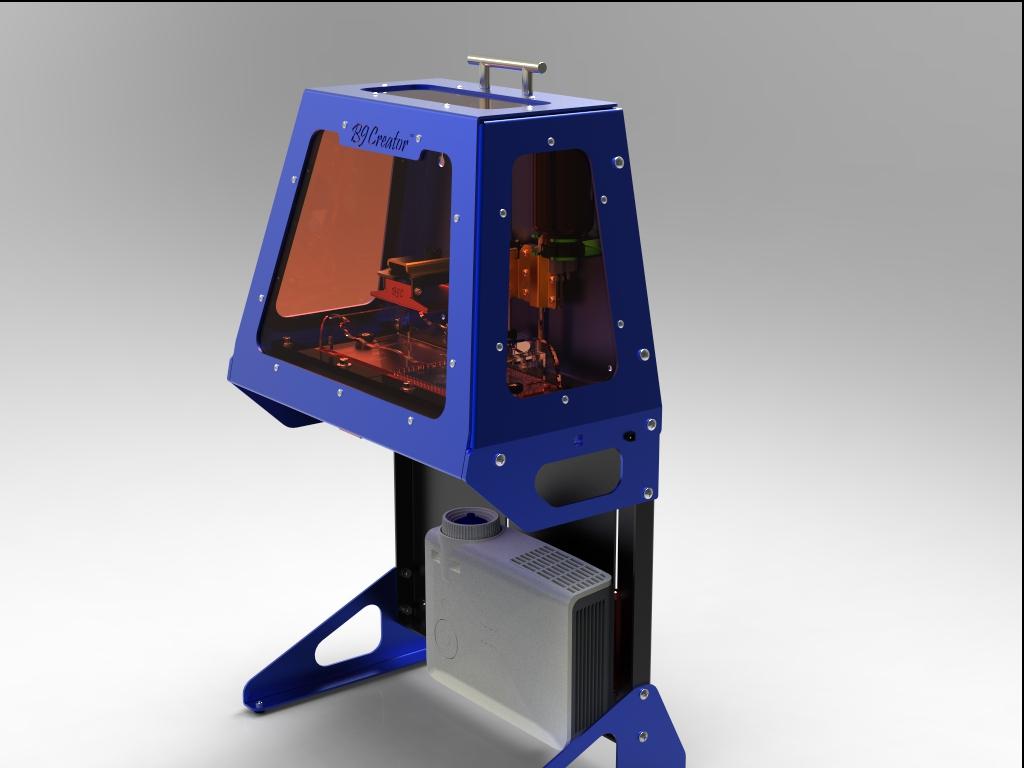 B9Creator  new high resolution resin based 3D printer on