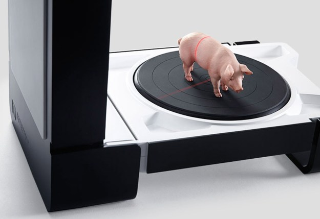 MFS1V1 3D scanner and a pig