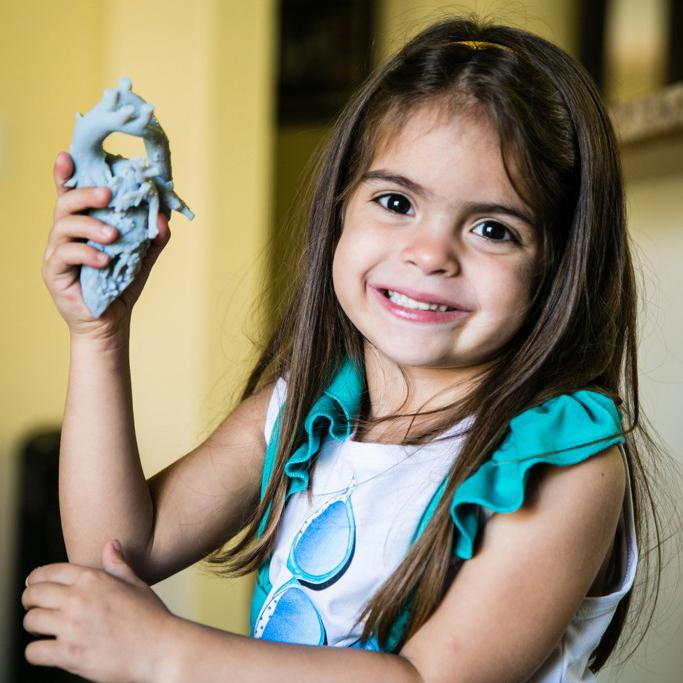 3D printing mia gonzalez's heart model