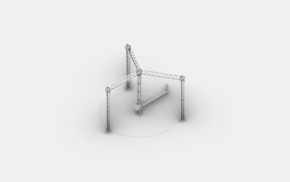 The design for the Crane WASP 3D printer. Image via WASP.