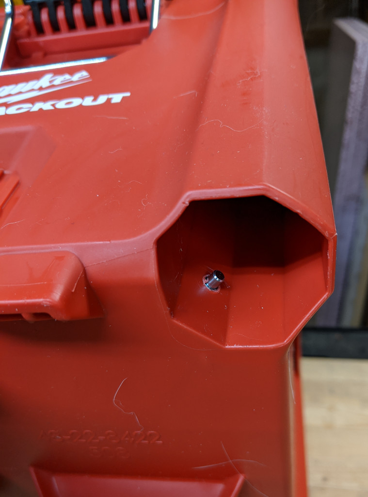 Hidden Indexing Pin for Milwaukee Stash Box