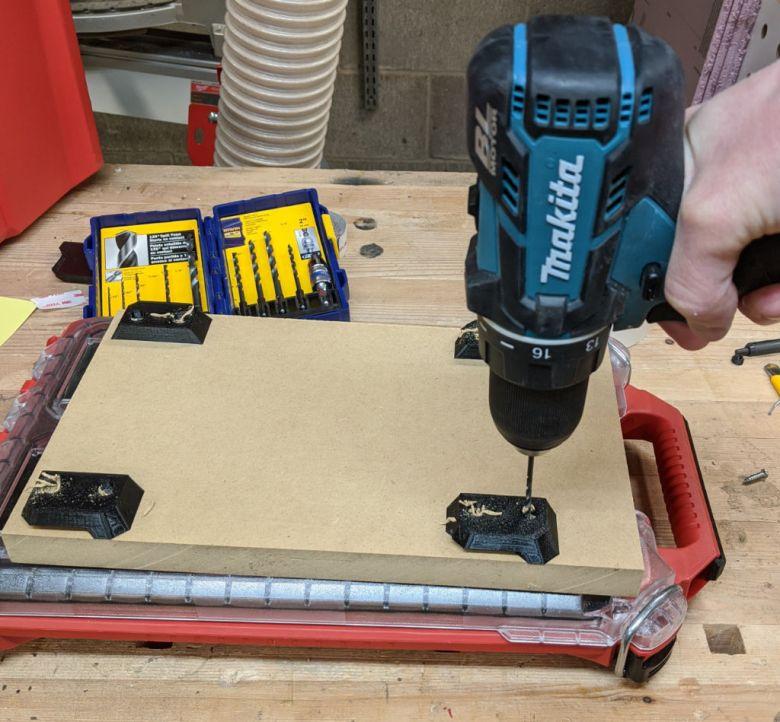 Step 3 Predrill holes for screws