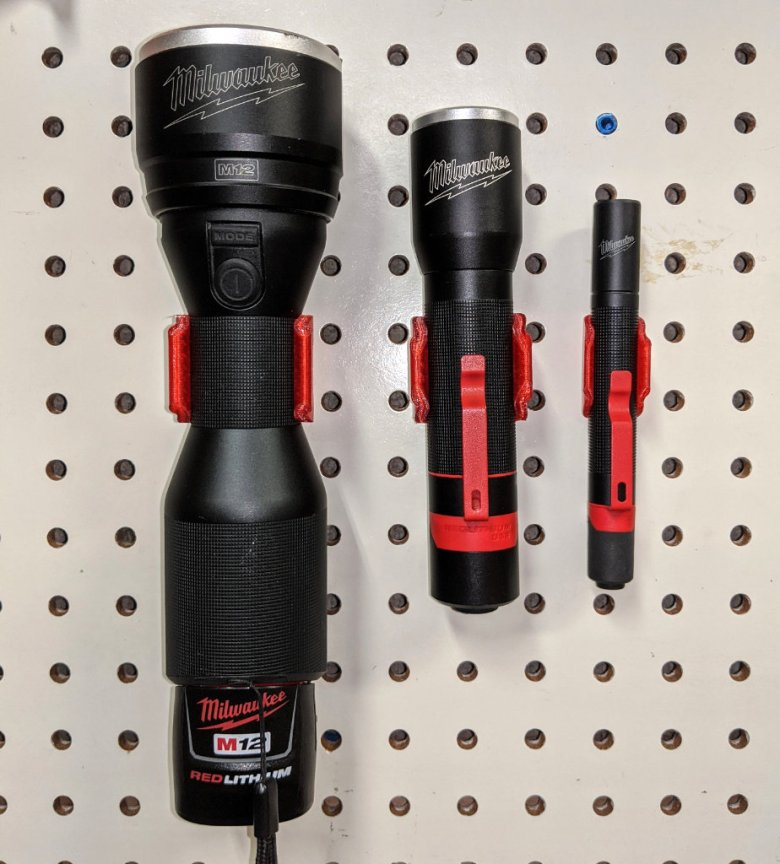 Milwaukee Flashlight Holders