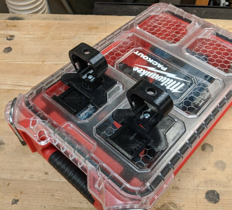 Bosch Packout Case with Empty Locking Battery Holders