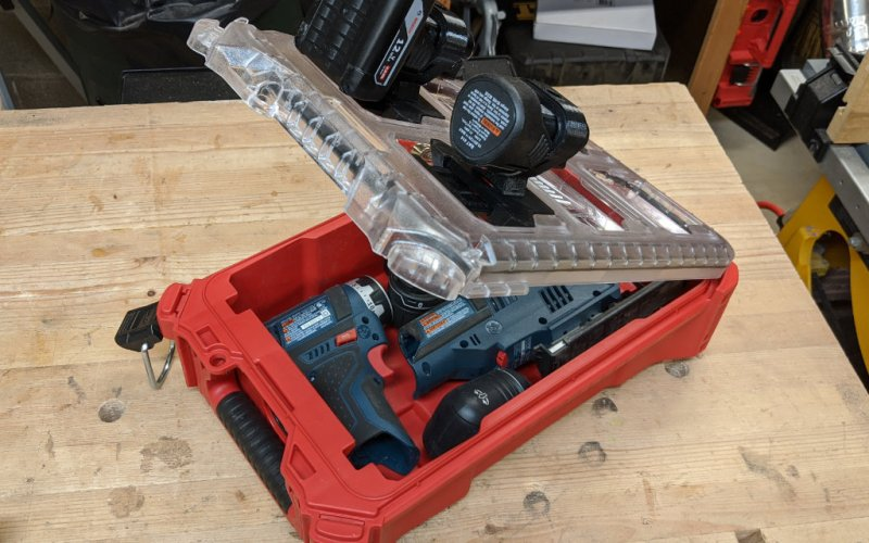 Bosch Packout Case with Locking Battery Holders