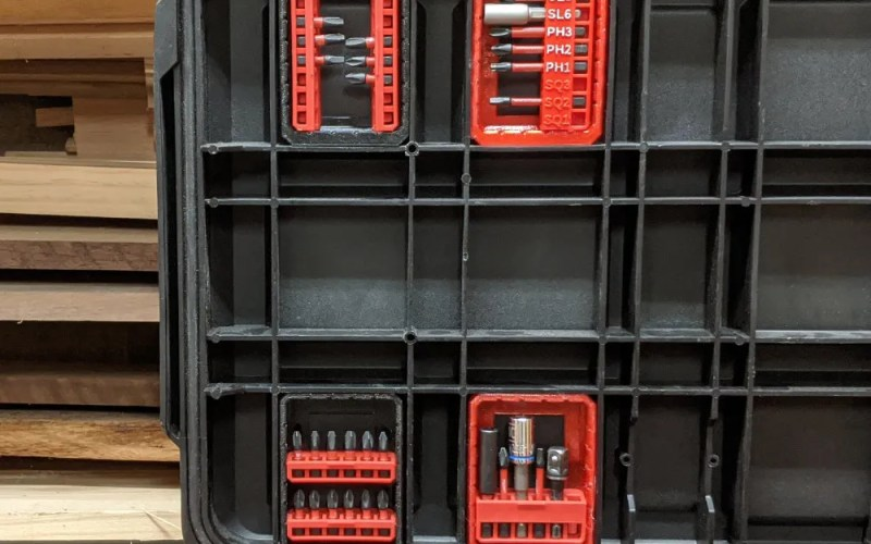 Bit Trays for Milwaukee Packout Rolling Toolbox