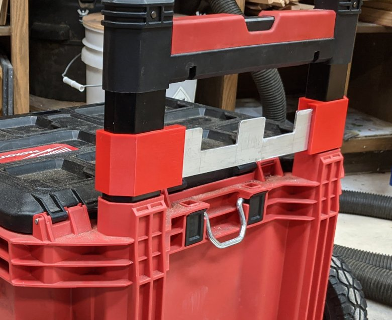 Packout Rolling Cart Handle Bracket