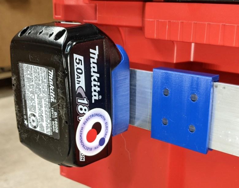 Packout Rail Bar Clip for Battery Holder