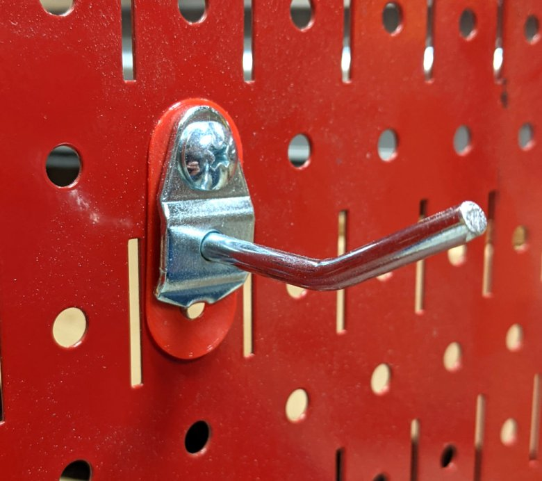 DuraHook Metal Pegboard Anchor with Hook