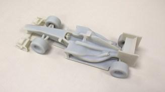 Das 3D-gedruckte Modell des Formel-1-Autos