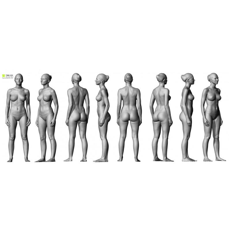Shaded Female 01 Pose 1
