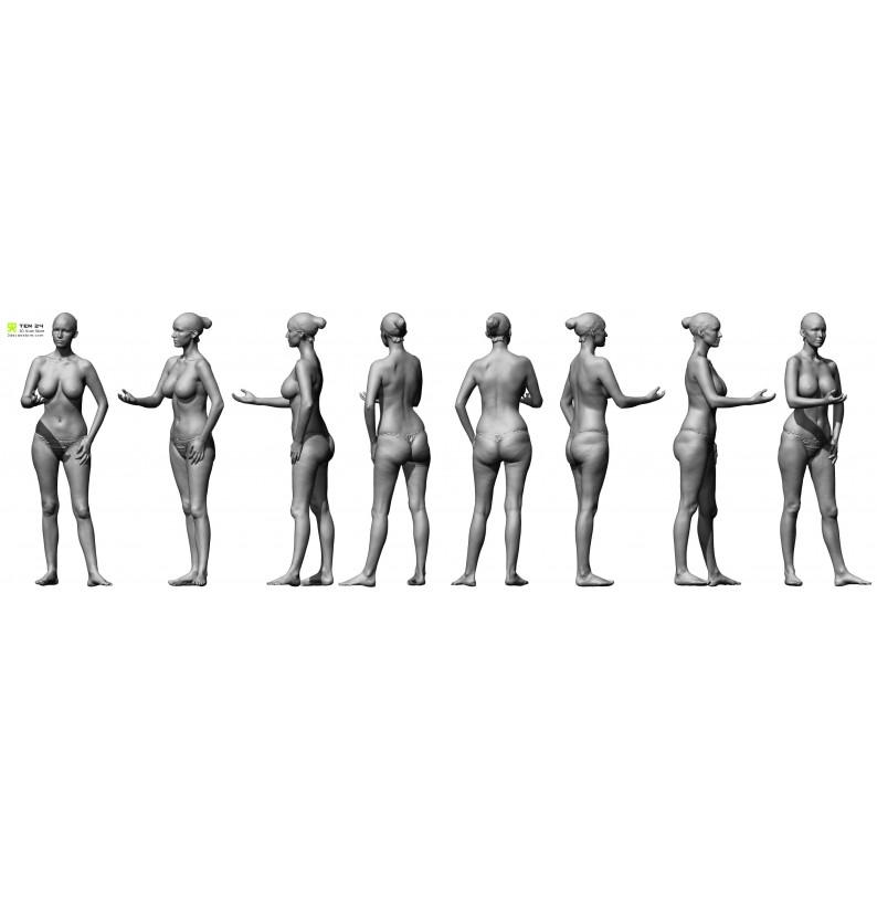 Shaded Female 01 Pose 3