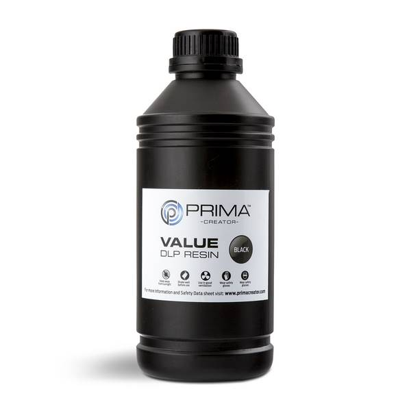 STANDARD UV DLP Resin BLACK 1000ml - PrimaCreator