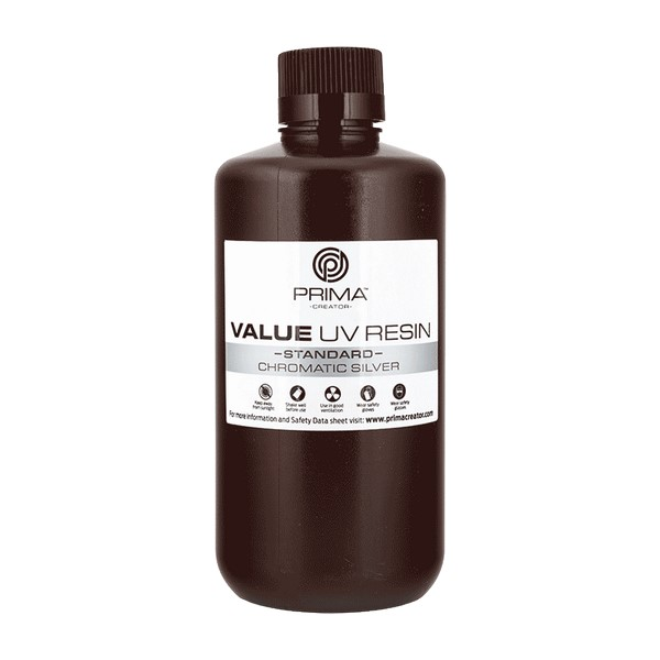 STANDARD UV DLP Resin CHROMATIC SILVER 1000ml - PrimaCreator