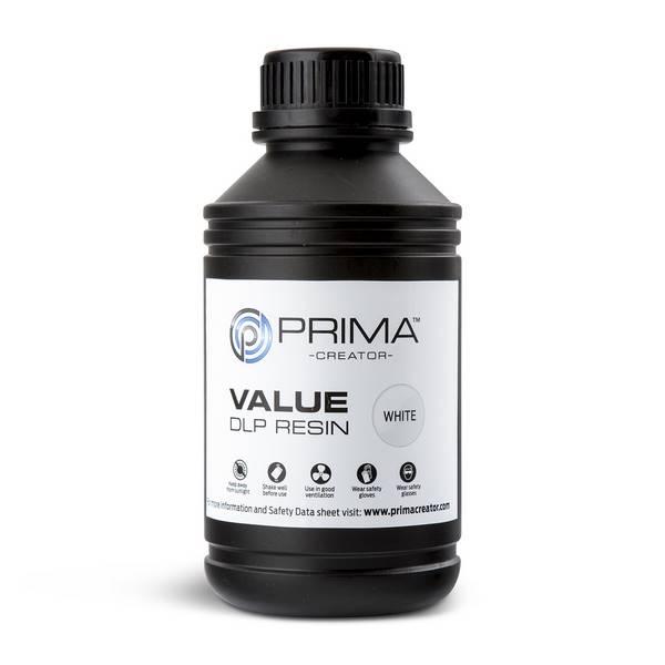 STANDARD UV DLP Resin WHITE 500ml - PrimaCreator