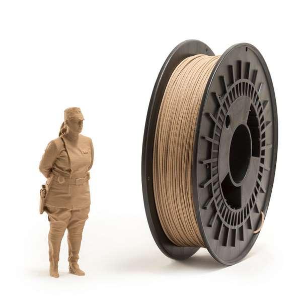 EUMAKERS PLA filament Wood 1.75mm 500g