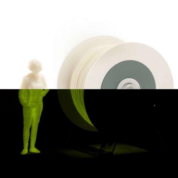 EUMAKERS PLA filament Photoluminescent Ivory White   Yellow 2.85mm 1000g