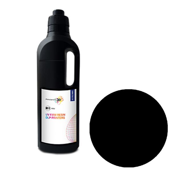 UV DLP Firm Resin BLACK 1000ml - Photocentric3D
