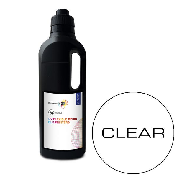UV DLP Flexibile Resin CLEAR 1000ml - Photocentric3D
