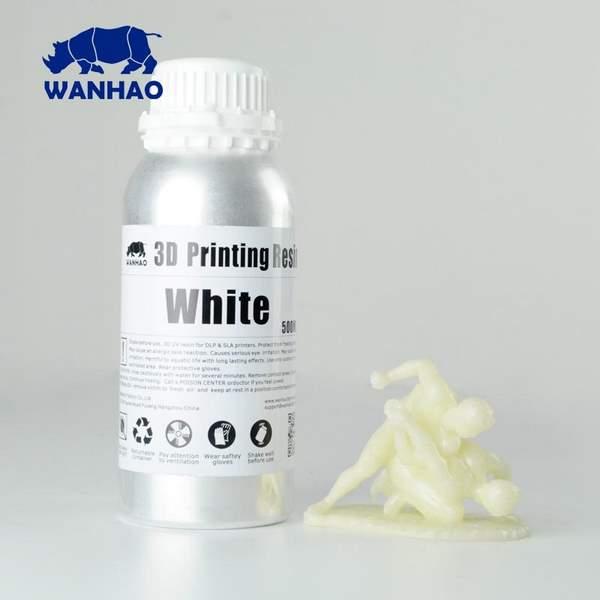 STANDARD UV Resin WHITE 500ml - WANHAO