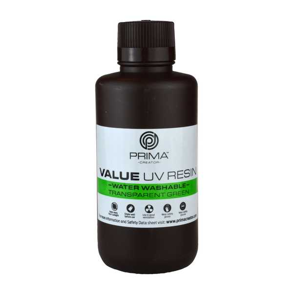 Water Washable UV DLP Resin TRANSPARENT GREEN 500ml - PrimaCreator