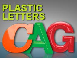 plastic letter