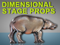 dimensional stage props