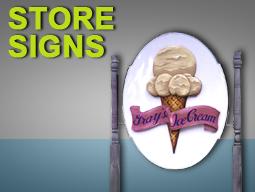 store signs