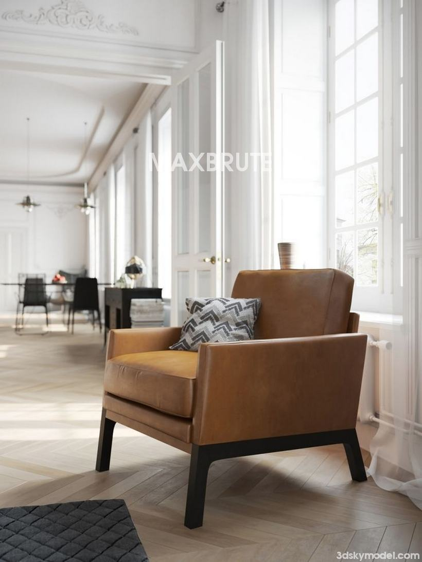 designing a small living room with fireplace decoration for in apartment boconcept monte armchair - maxbrute furniture visualization