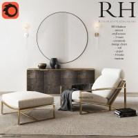 Rh armchair restoration hardware 3d model 3dsmax