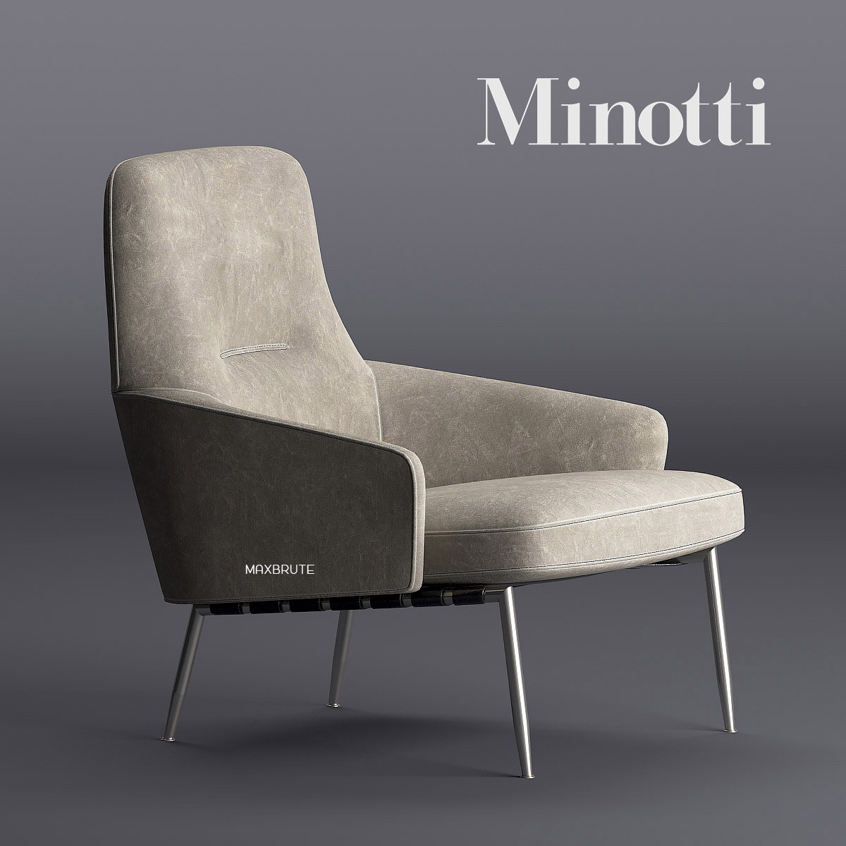 kartell sofa largo west elm henry bed review minotti coley armchair 3dsmax 3dmodel - modern with grey color