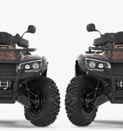3d model atv four wheelers rigged collection [ 1304 x 705 Pixel ]
