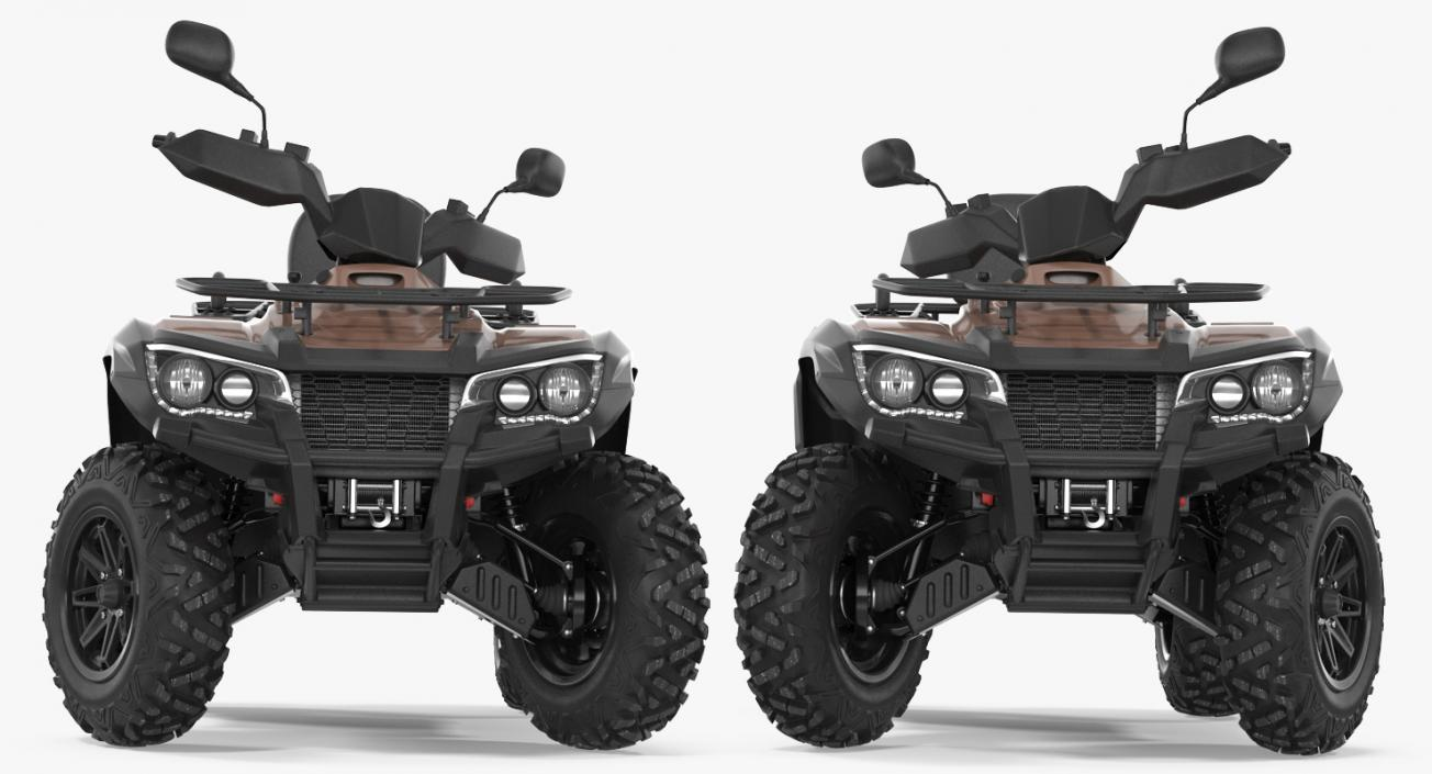 hight resolution of 3d model atv four wheelers rigged collection