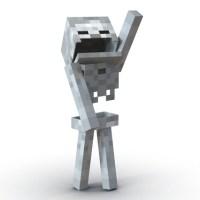 Minecraft Skeleton Rigged 3d model
