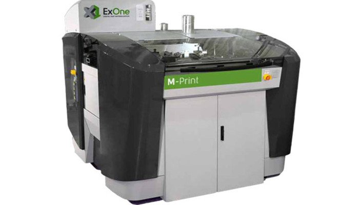 exone binder jetting metal 3d printer