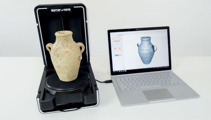 matter and form v2 3d scanning a vase