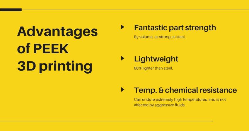 advantages of peek 3d printing