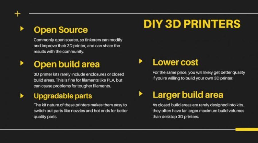 advantages of diy 3d printers