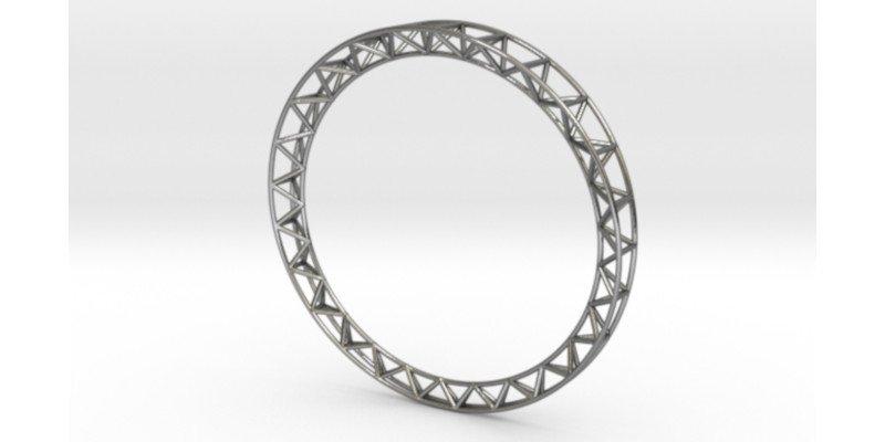 intricate framework 3d printed bracelet by studio noesis