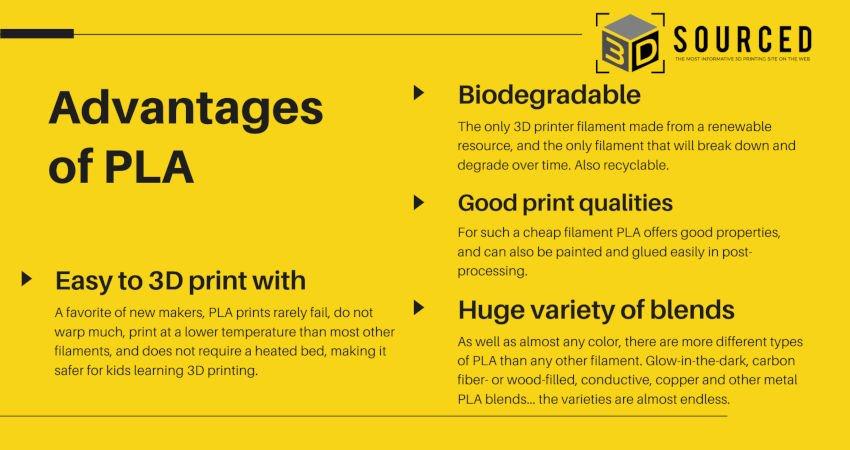 pla filament advantages and disadvantages