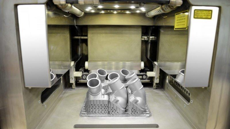 3d printed metal car parts for a mercedes truck