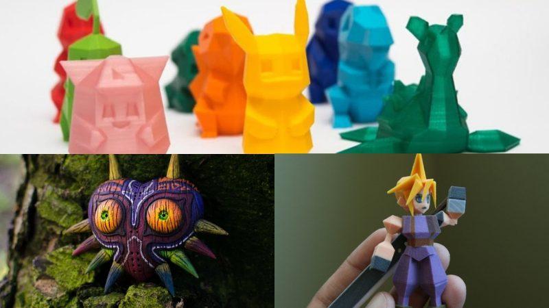 3D printed toy Pokémon, Majora's Mask, and PS1 Cloud Str