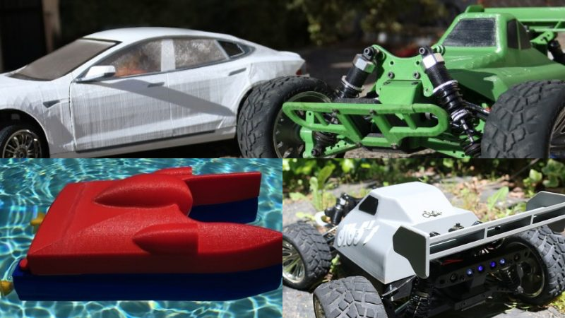 3D printed RC Vehicles, cars, boats, chassis