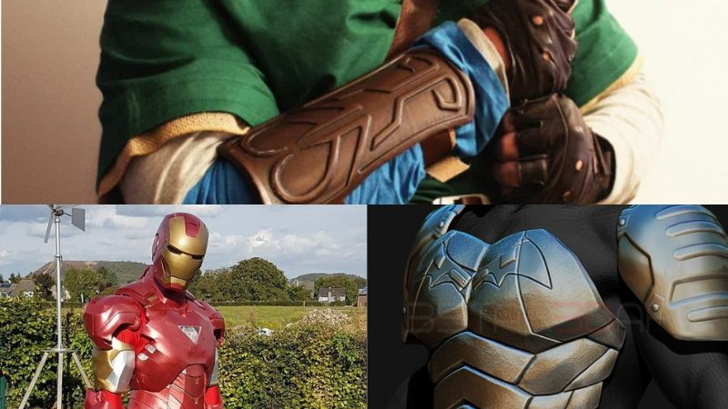 3D printed cosplay items. Link's Bracer, Iron Man suit, Batman Armor.