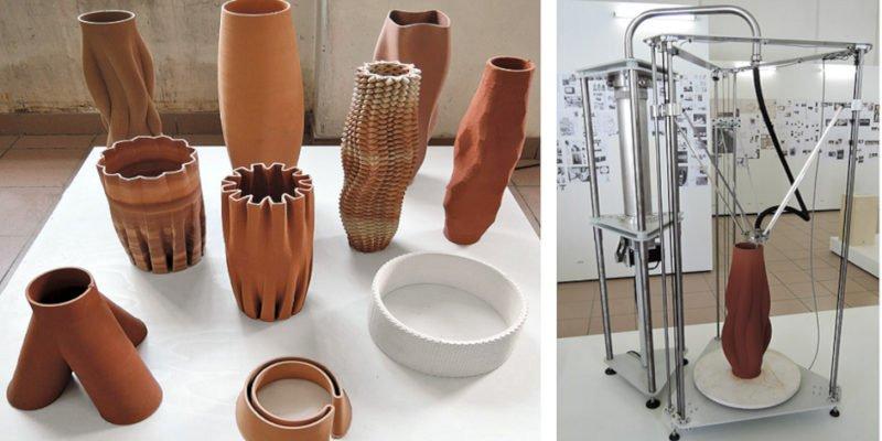 ceramic 3d printed vases by oliver van herpt
