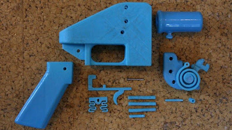 3d printed parts of a gun