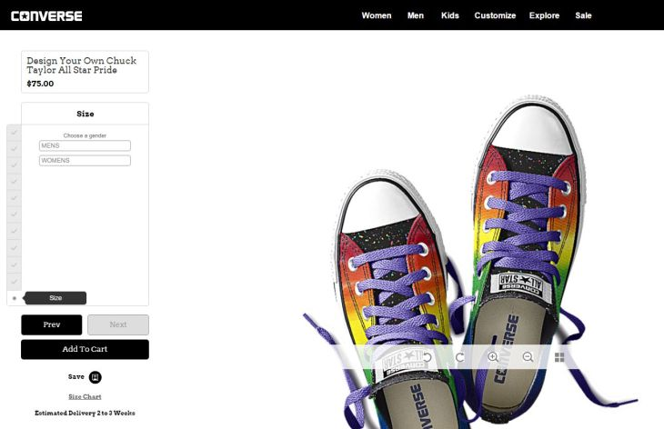 converse ecommerce customizer