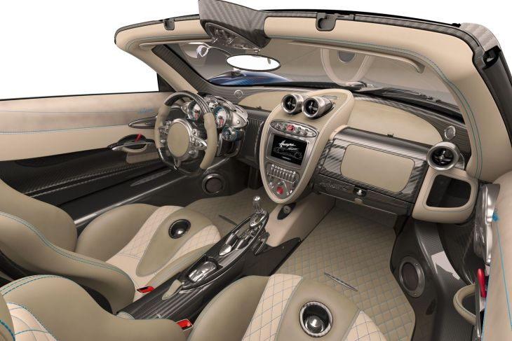 Huayra Roadster interiors 3d