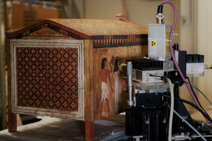 archeologia invisibile - analisi multispettrale cofanetto ligneo di kha - museo egizio