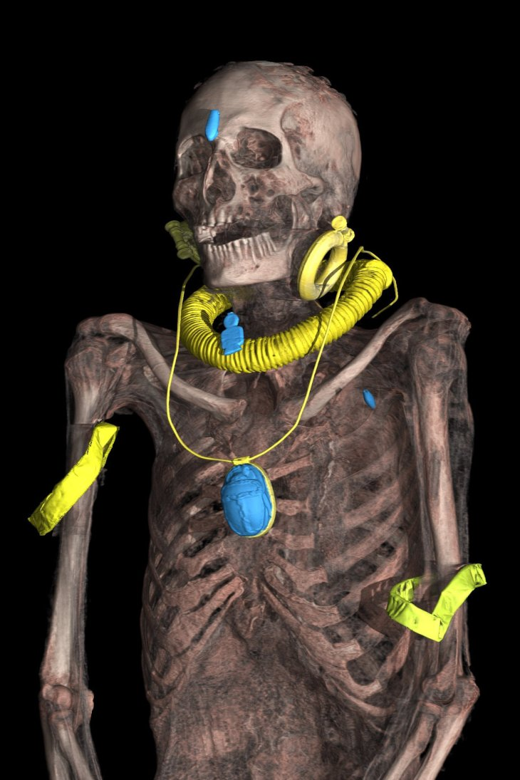 archeologia 3D - museo egizio - sbendaggio virtuale mummia di kha